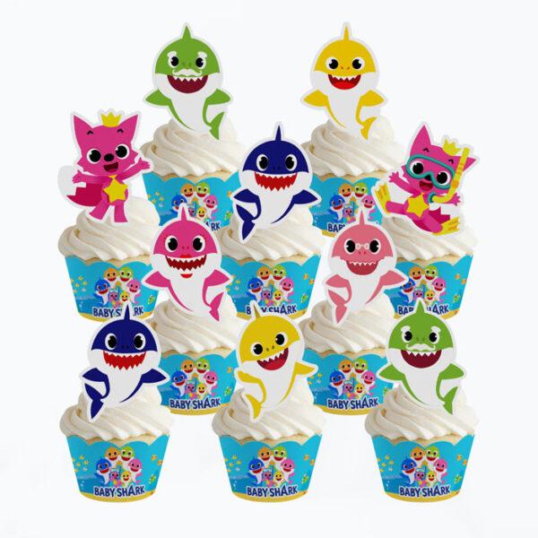 baby-shark-cupcake-wrapper-&-topper